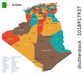 algeria map and flag   high...