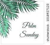 palm sunday christian feast... | Shutterstock .eps vector #1018927123