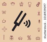 tuning fork sign  vector design | Shutterstock .eps vector #1018929097