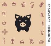 moneybox pig  vector icon | Shutterstock .eps vector #1018929103