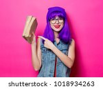 portrait of young style hipster ... | Shutterstock . vector #1018934263