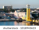 Small photo of The morning view of port tower in Nassau, the capital of the Bahamas.