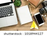 notepad and lifestyle... | Shutterstock . vector #1018944127