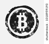 bitcoin sign grunge style.... | Shutterstock .eps vector #1018959193