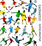 collection of soccer players in ...