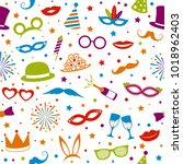 colourful party background  ... | Shutterstock .eps vector #1018962403