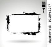 black brush stroke and texture. ... | Shutterstock .eps vector #1018968247