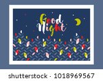 good night card or poster with... | Shutterstock .eps vector #1018969567