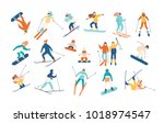adult people and children... | Shutterstock .eps vector #1018974547