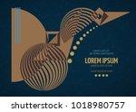 abstract geometric modern... | Shutterstock .eps vector #1018980757