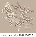 abstract geometric modern... | Shutterstock .eps vector #1018980853