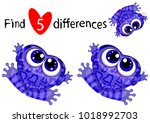 find five differences.... | Shutterstock .eps vector #1018992703