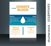 blood donation concept with... | Shutterstock .eps vector #1018995493