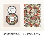 8 march. happy women's day.... | Shutterstock .eps vector #1019005747