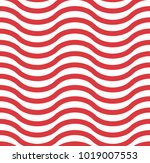 red and white wavy chevron... | Shutterstock . vector #1019007553