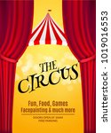 circus show poster template... | Shutterstock .eps vector #1019016553