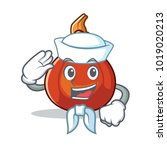 sailor red kuri squash... | Shutterstock .eps vector #1019020213
