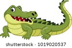 Cartoon Crocodile Isolated On...