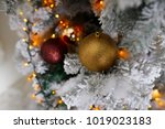 christmas tree decoration on... | Shutterstock . vector #1019023183