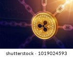 ripple. crypto currency. block... | Shutterstock .eps vector #1019024593