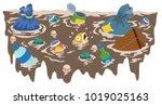 vector illustration of fish... | Shutterstock .eps vector #1019025163