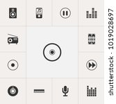 set of 13 editable music icons. ...