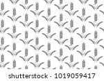 agriculture wheat background... | Shutterstock .eps vector #1019059417