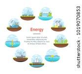 cartoon energy generation... | Shutterstock .eps vector #1019070853