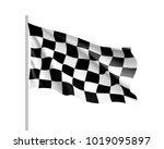 flag auto racing  waving... | Shutterstock .eps vector #1019095897