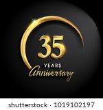 35 years anniversary... | Shutterstock .eps vector #1019102197