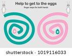 finger steps for both hand ...   Shutterstock .eps vector #1019116033