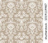 seamless beige lace background... | Shutterstock .eps vector #1019119987