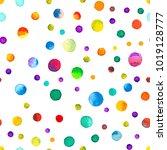 watercolor confetti seamless... | Shutterstock . vector #1019128777
