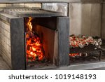 typical argentinian barbecue or ... | Shutterstock . vector #1019148193