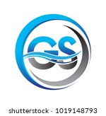 Initial Letter Logo Gs Company...