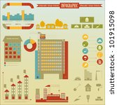 Construction - elements Infographics for presentations - Construction Icons and graphics - vector illustration - stock vector