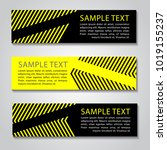 yellow and black straight line... | Shutterstock .eps vector #1019155237