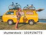 summer holidays  road trip ...   Shutterstock . vector #1019156773