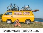summer holidays  road trip ...   Shutterstock . vector #1019158687