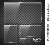 glass plates set. glass banners ... | Shutterstock .eps vector #1019163133