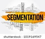 segmentation word cloud collage ...   Shutterstock .eps vector #1019169547