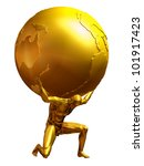 mythological atlas in pure gold ... | Shutterstock . vector #101917423