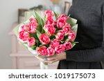 beautiful luxury bouquet of... | Shutterstock . vector #1019175073