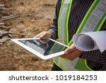 asian business man construction ... | Shutterstock . vector #1019184253