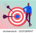 vector business illustration ... | Shutterstock .eps vector #1019189047