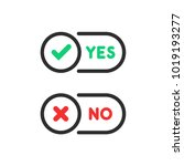check marks yes and no ui...