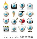vector eyes - stock vector