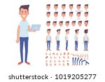 front  side  back  3 4 view... | Shutterstock .eps vector #1019205277