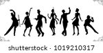 charleston party. gatsby style... | Shutterstock .eps vector #1019210317