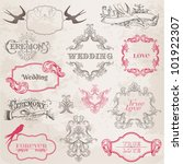 wedding vintage frames and... | Shutterstock .eps vector #101922307